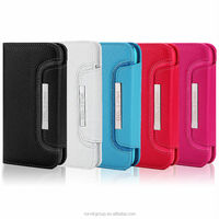 latest design factory sell genuine leather case with PC shell for iphone 5C