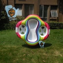 IN STOCK new inflatable twin double baby double swim float seat