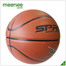 Match quality glue laminated microfiber PU leather basketball ball