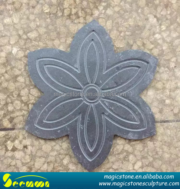 new design shaped slate clabs for garden