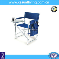 Factory Production Outdoor Blue Metal Directors Chair