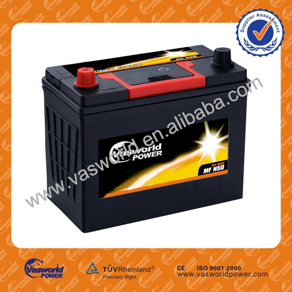 N50 12V 50AH MF Reconditioned car battery for sale