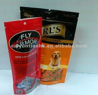 Vivid printed stand up pet food bags for dog