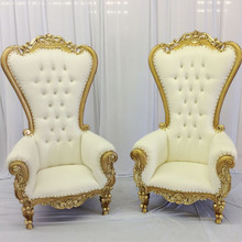 Victorian style High Back Chair With Gold Trimming Lounge Furniture Living Room Furniture