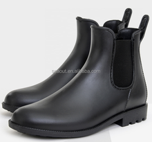 Fabulous design custom made black wellington PVC rain boots for sale