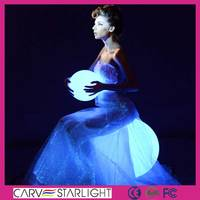 fiber optic fashion luminous light up new design evening dresses