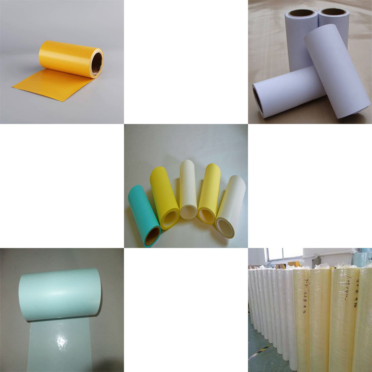 High Quality Jumbo Rolls yellow/white Glassine silicone coated release paper liner