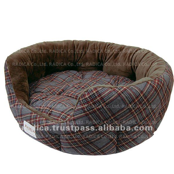 Tartan check pet bed for dogs as best dog bed
