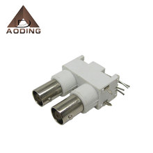 Plastic Housing BNC double female connector for PCB