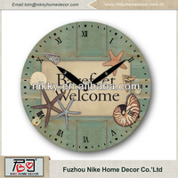 Unique wall clock designs Beach decorative wall clock / cheap wall clocks