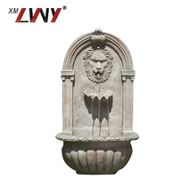 Factory Price Garden Outdoor Wall Waterfalls Lion Head Fountain