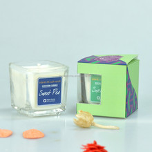 celebrate Soy Wax Candle with MSDS report/ Party Deco Holiday Gift in Glass jar/glass jar scent candle for gift