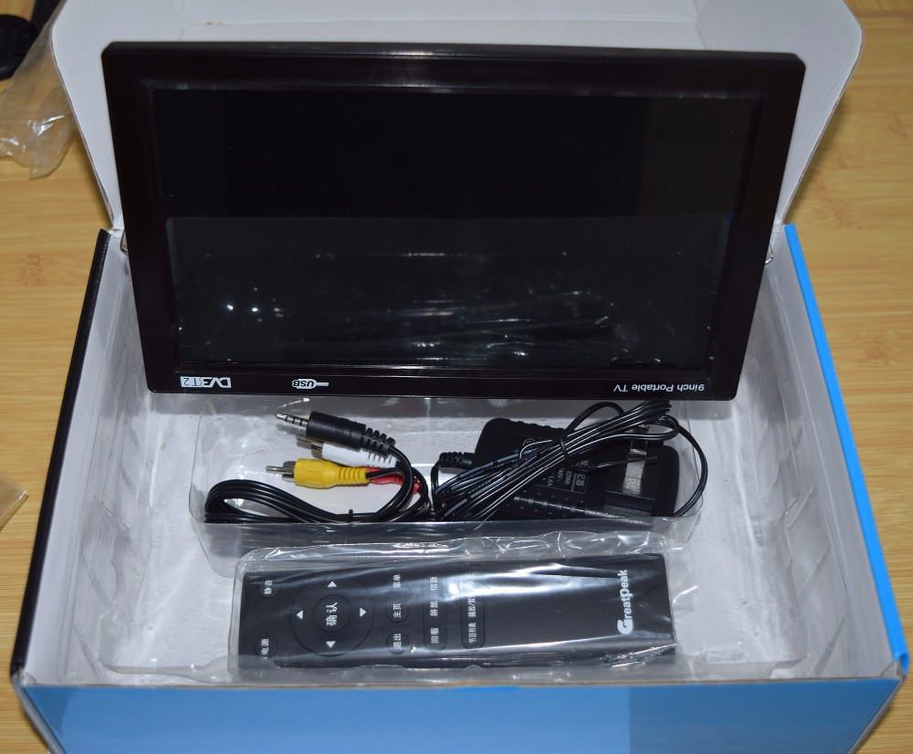 Off Promotions Rechargeable Portable 9 inches DVB-T DVB-T2 LCD Digital Mini TV