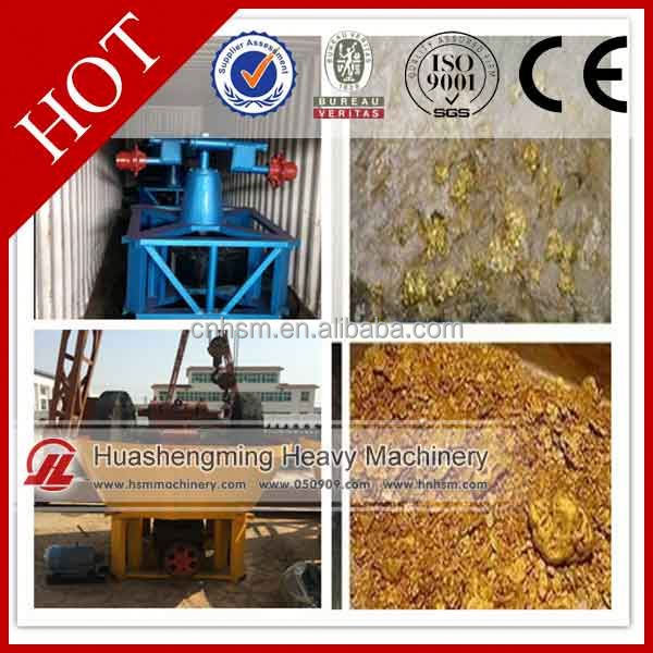 HSM CE CIQ two rollers wet pan mill gold grinding machine