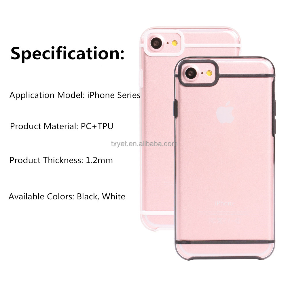 luxury phone case for iPhone 6 6s ultra slim mobile phone clear tpu pc case back cover for iPhone 7 7 plus