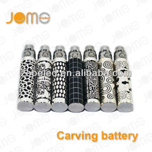 Rechargeable e cig vaping battery ego k carving battery ego-K carved/etched battery