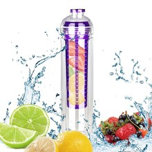 China custom fruit infuser water bottle 2017 oem double wall kids with eco friendly