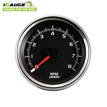 80mm White Led Chrome Case Waterproof Electric Meter Motorcycle RPM Tachometer
