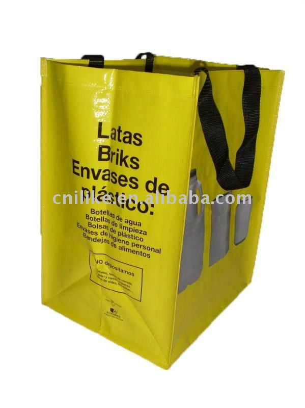 yellow promotional pp non woven bag