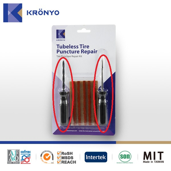 KRONYO hand tool set tyre puncture tubeless tire seal repair kit
