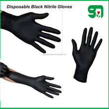 FDA,CE,ISO approved AQL1.5,2.5,4.0 black nitrile gloves for medical, dental, Laboratory, dustrial service