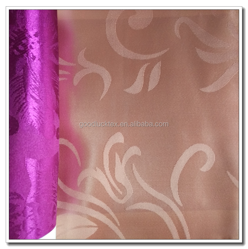 100% Polyester Satin Jacquard Fabric for Dress
