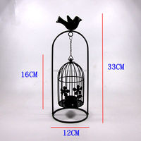 Promotional gifts wall mounted hanging glass ball candle holder
