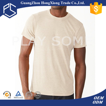 Guangzhou manufacturer summer short sleeve men white plain t-shirt