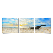 Boat On Beach Stretched Canvas/Sea Picture on Canvas/Giclee Printers Sale