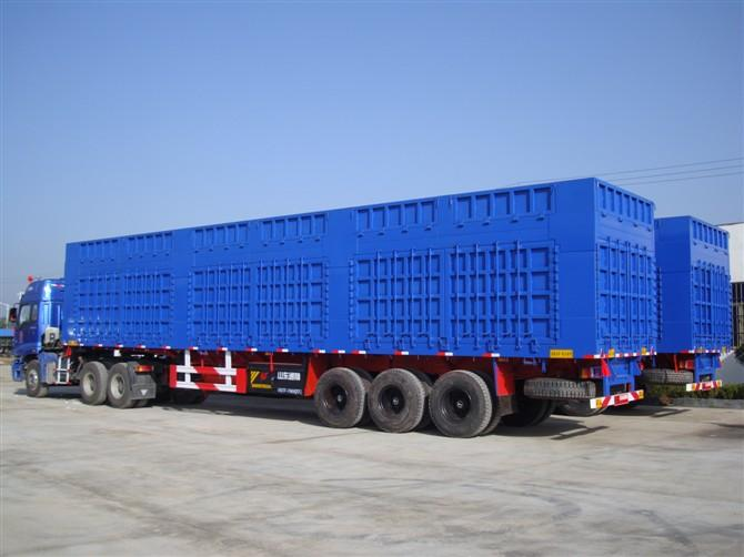 China Huicheng Carbon Steel atv 3 axle dump trailer for sale