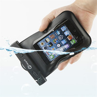 PVC Waterproof Cell Phone Bag with three zippers