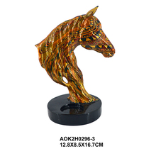 Artificial Animal Statuary Figure Decor Resin Animal Statues Horse Head