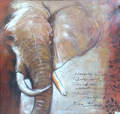 Africa abstract elephant oil painting