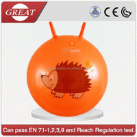 2015 Hot sale Inflatable bounce the ball kids play games jumping rubber ball made in china QX-168F