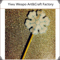 New Arrival Ice Queen Snow Flake Wand Plastic Magic Flower Wand