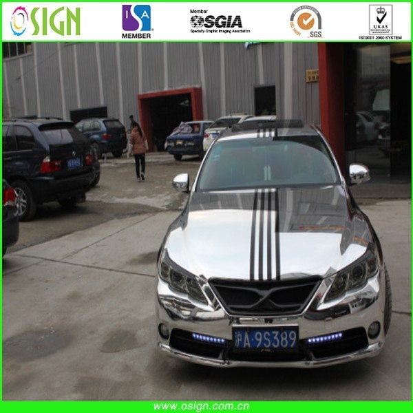 Chrome mirror car wrap film