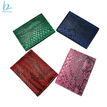 Exotic high quality real python skin leather credit card holder
