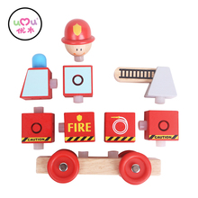 Puzzle Fire Engine Educational Wooden Toys for kids