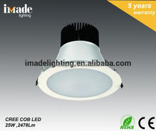 Hot High Quality commercial 25W anti-glare COB LED DOWNLIGHT ceiling light