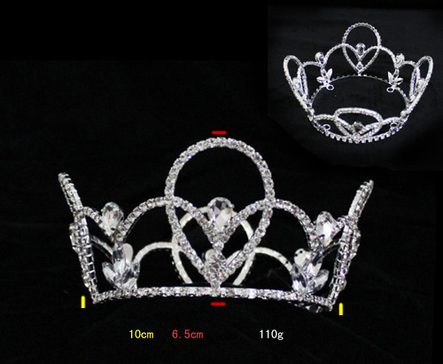 Full round Wholesale Custom Pageant Rhinestone Holiday Crown H172-140
