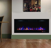 "55"" LVD touch panel recessed and wall mounted electric fireplace"