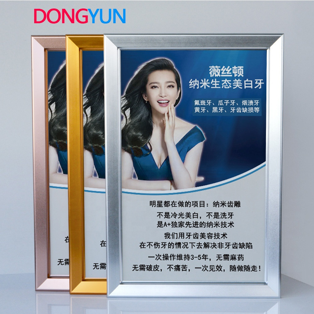 China yuyao manfacturing 2019 new aluminum <strong>poster</strong> display <strong>frame</strong>