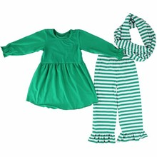 New model girl outfits 2017 high quality latest suit design for children clothing wholesale children boutique clothing sets