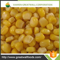 Frozen vegetables IQF frozen sweet corn kernels