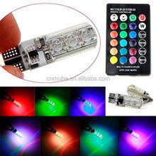 T10 5050 SMD RGB Remote Controller Reading Wedge Light Lamp 6 LED Car Fog Lights