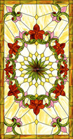 china wholesale custom tiffany style stained glass window panel decoration