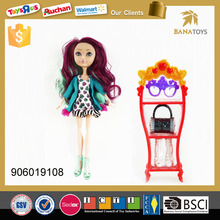 Moveable silicon joint princess baby doll