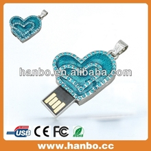 Diamond Heart shape USB Flash dirve 16GB