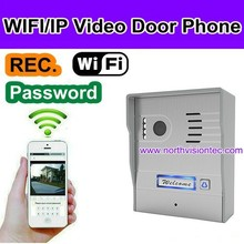 wifi door bell ring with camera wireles intercom, P2P, video/ photo for apartment, home security
