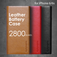 handmade genuine leather battery flip cover for iPhone 6 6s 2800mAh LBC-i6